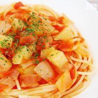 じゃが玉のトマトスープパスタ